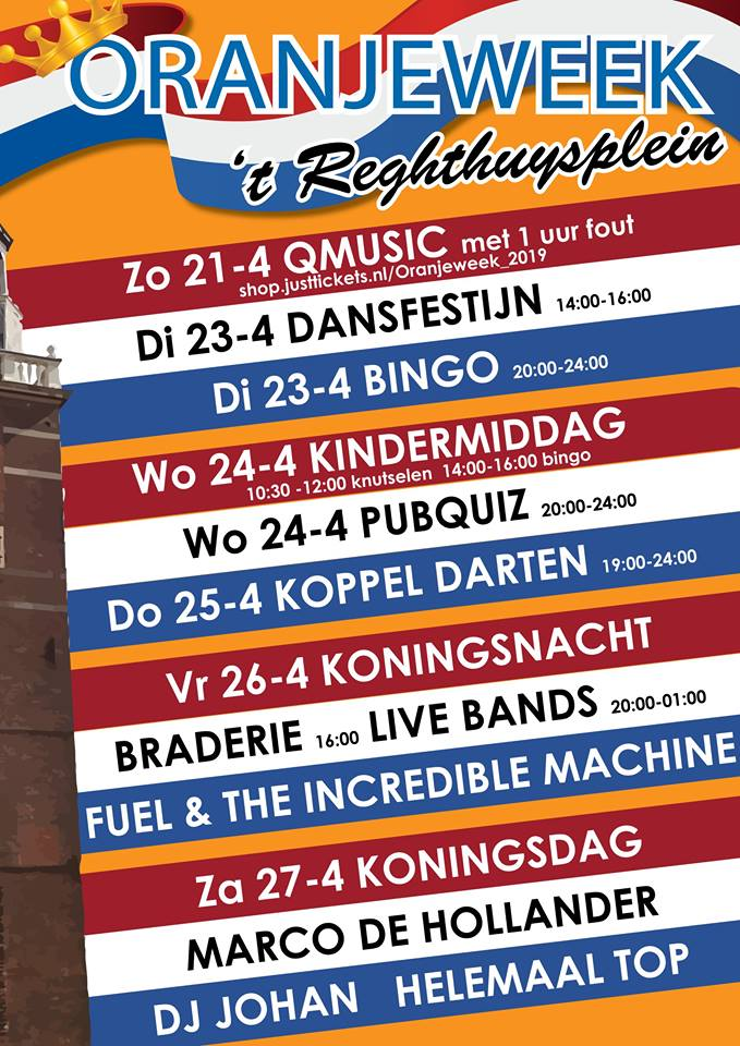 agenda oranjeweek 't reghthuysplein