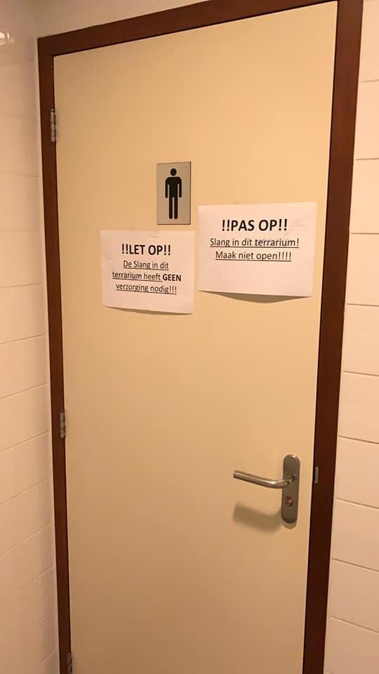 slang opgevangen in toilet