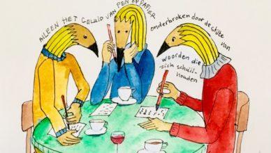 schrijfjemee tekening Astrid van der Horst