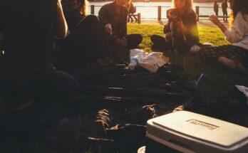 picknickmand strand zomer